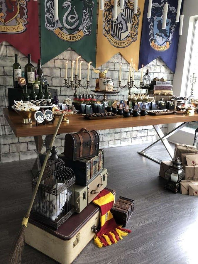 Candy bar tem tico de harry potter lleno de ideas para for Harry potter cuartos decoracion