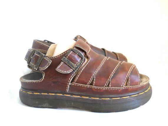 f3a5b50298 Dr Marten Sandal Dr Marten Men Brown Sandal Doc by TheVilleVintage, $44.99