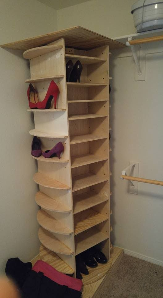 Showing The End Result Of A Shoe Rack I Built For My Wife Wood