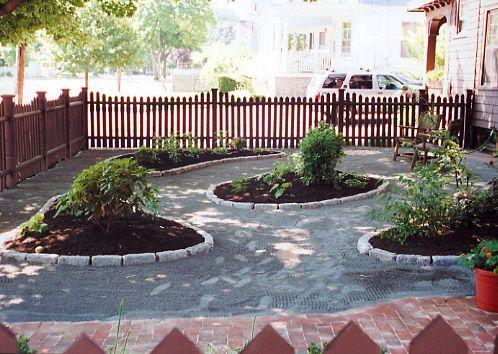 dog friendly backyard landscaping ideas new brick walkway a