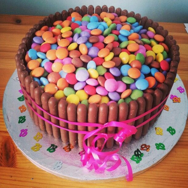 Bright Colorful and Crunchy Smarties Cakes CookingBaking