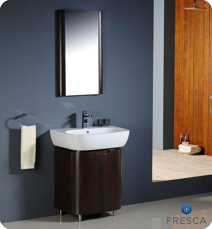 26 inch Wenge Brown Modern Bathroom Vanity | Brown modern ...