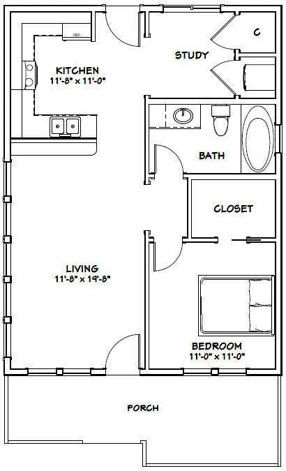 Details About 24x32 House 1 Bedroom 1 Bath Pdf Floor