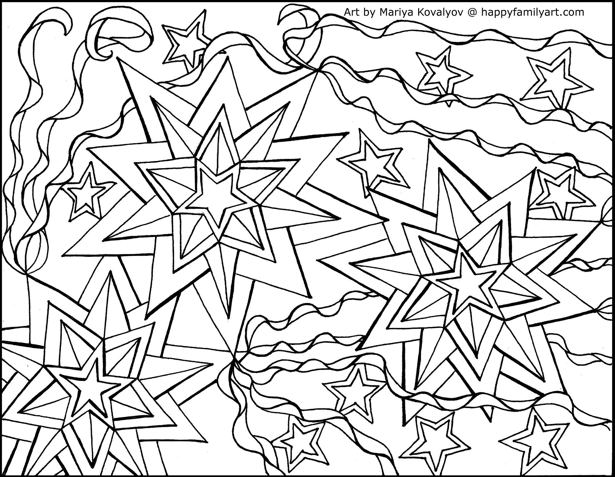 StarsAndStripes - Happy Family Art | Love coloring pages, Coloring ...