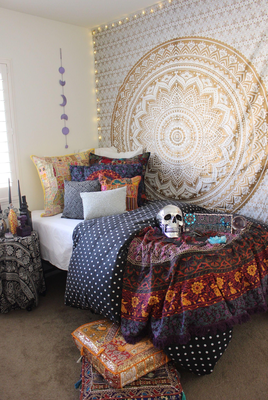Halloween theme gold bedroom from lady scorpio weekender