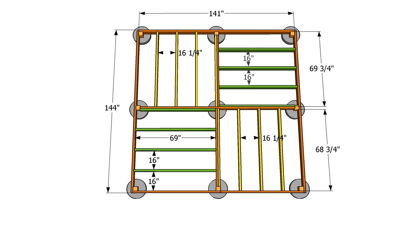 12x12 shed floor plans square gazebo plans for the for 12x12 deck plans