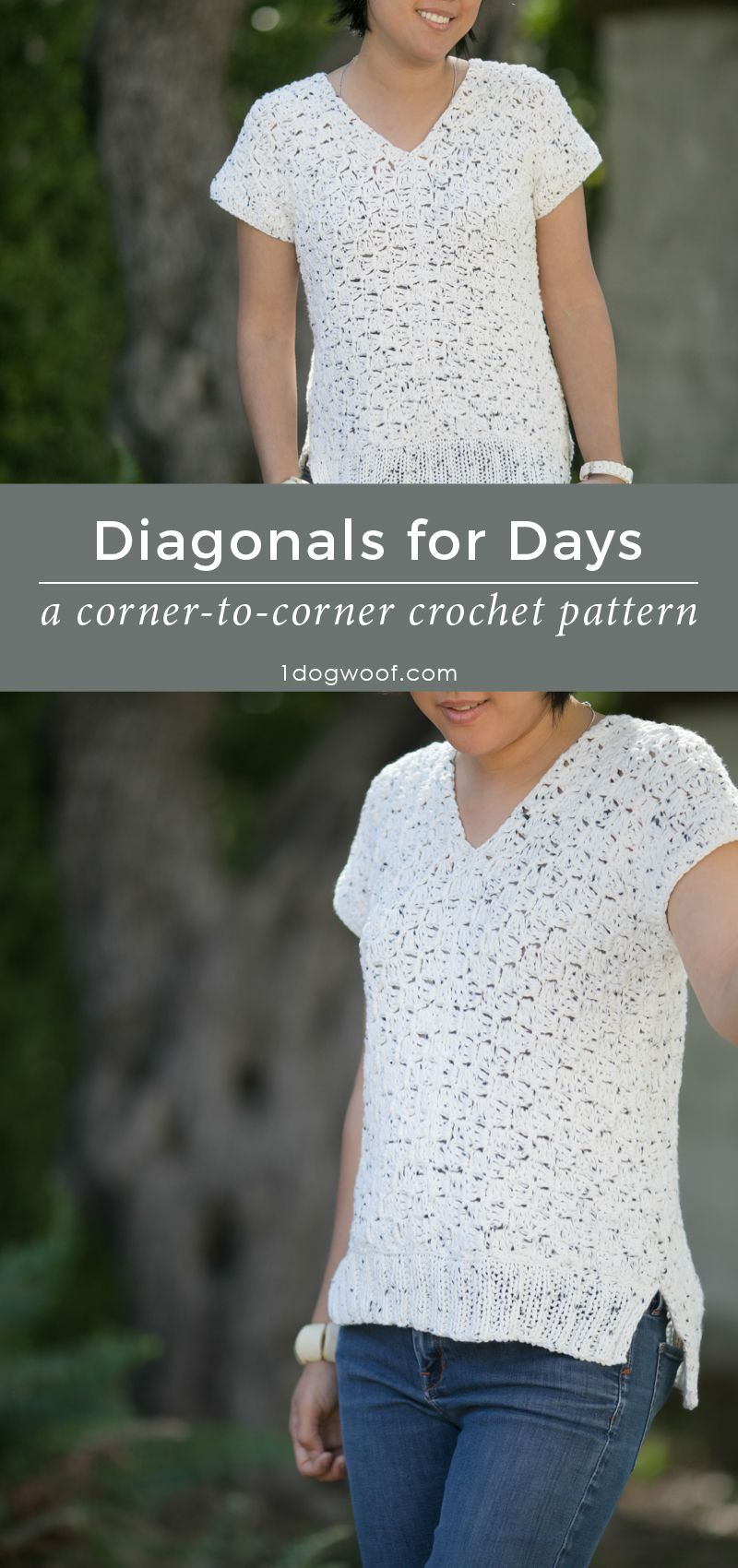 Diagonals for Days C2C Crochet Top | Pinterest | Free pattern ...