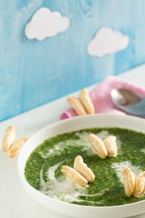 Crema Zuppa Di Verdure E Crostini Di Pasta Fillo Ricetta Per Bambini Vegetable Soup Cream And Toasted Idee Pasto Sano Idee Alimentari Zuppe Ricette
