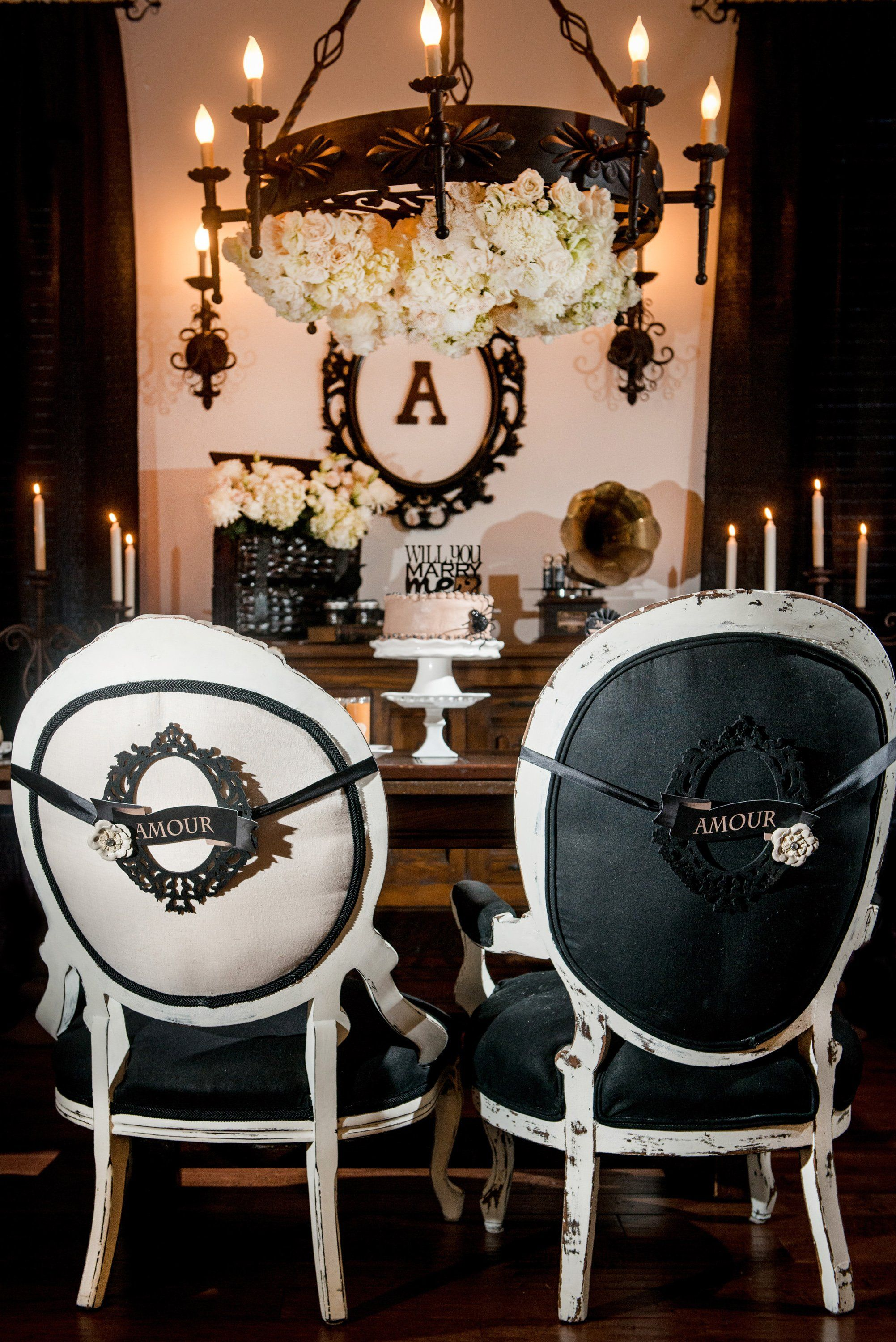 You\u0027ll Be Creepily Captivated by This Addams Family Engagement Party - halloween wedding decoration ideas