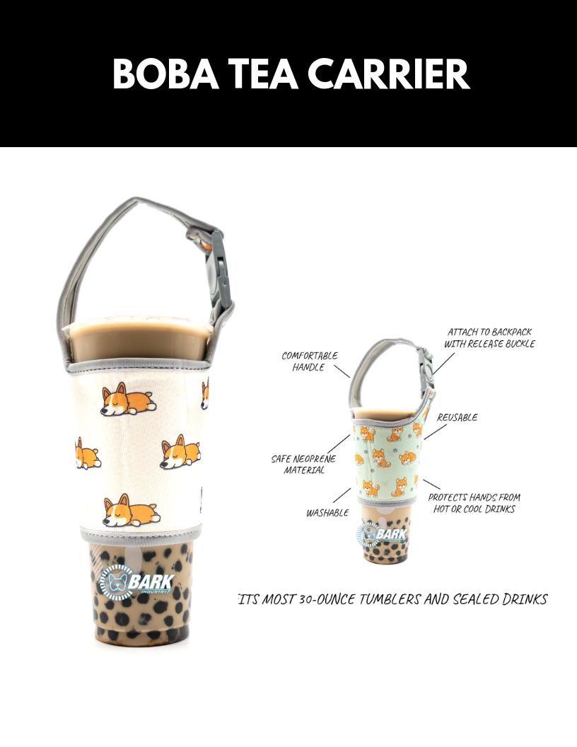 Cute Boba Tea Carrier Holder With Shiba And Corgi Pattern Boba Tea Tea Diy Boba