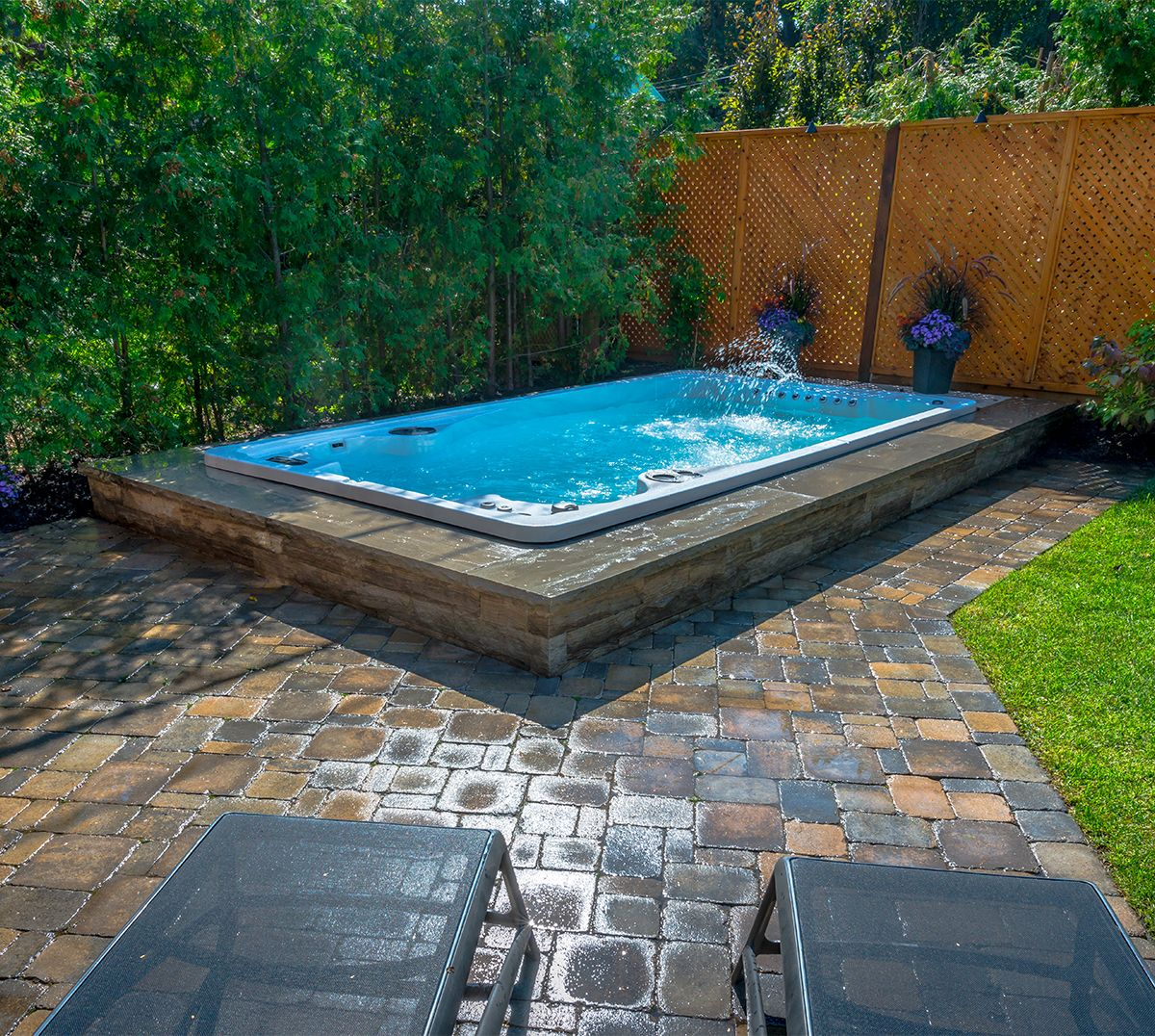 The 14fX from Hydropool Swim Spas gives you that premium, inground ...