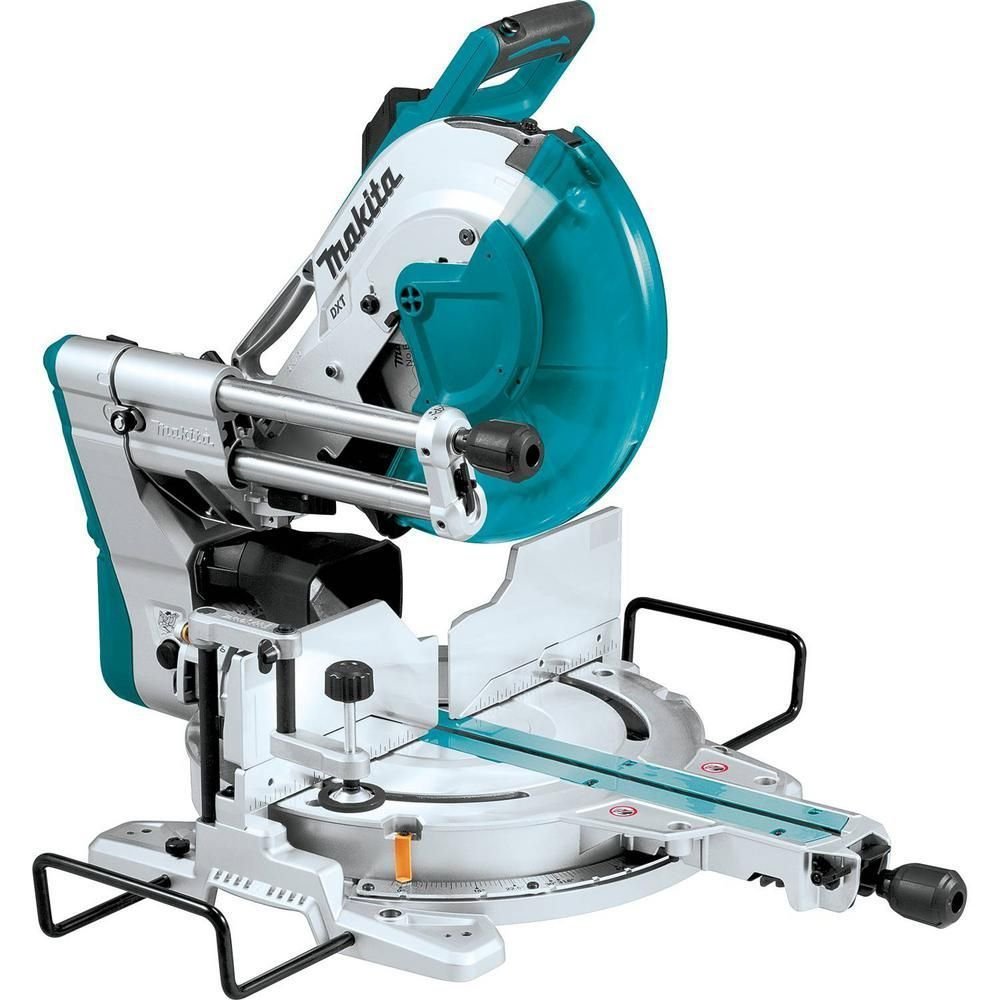 Makita 15 Amp 12 In Dual Bevel Sliding Compound Miter Saw With Laser Sliding Compound Miter Saw Compound Mitre Saw Sliding Mitre Saw