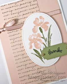 Sunday Sketches - Inspiring Iris Thank You Card