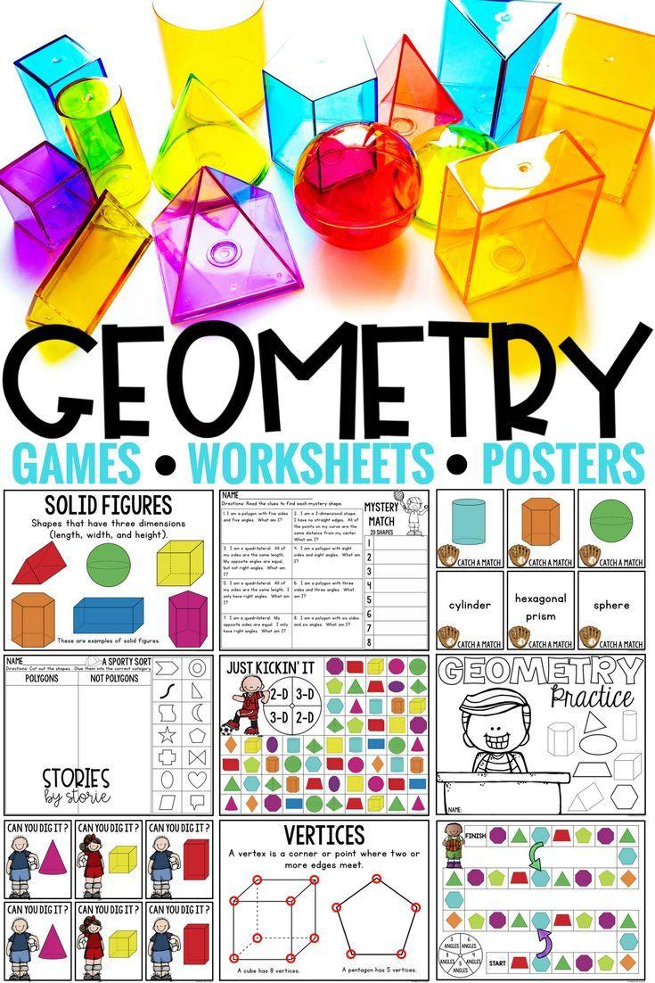 Geometry Games & Worksheets Geometry, Shapes worksheets