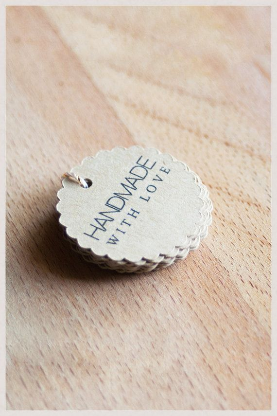 20 Handmade With Love Gift Tags Handmade Tags With By Seasprout 4 00 Handmade Tags Gift Tags Diy Tags