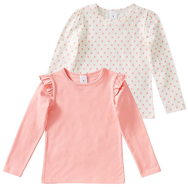 Girls' 2 Pack Of Long Sleeve Tops