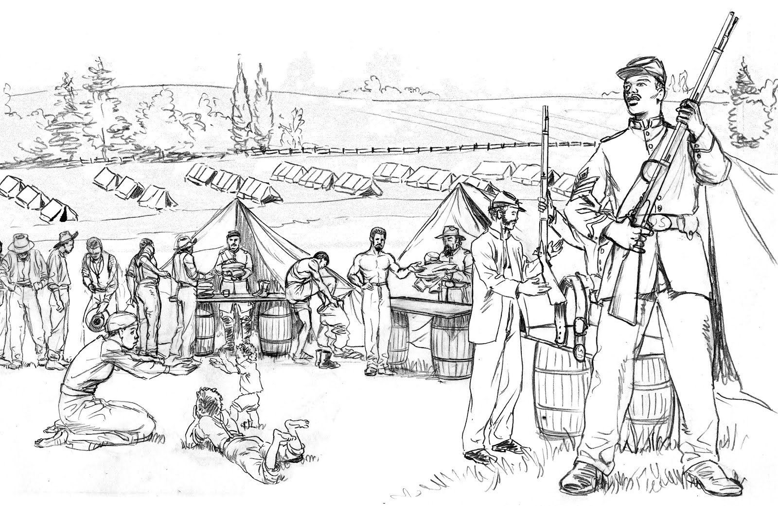 Revolutionary War Coloring Pages 15 Pictures