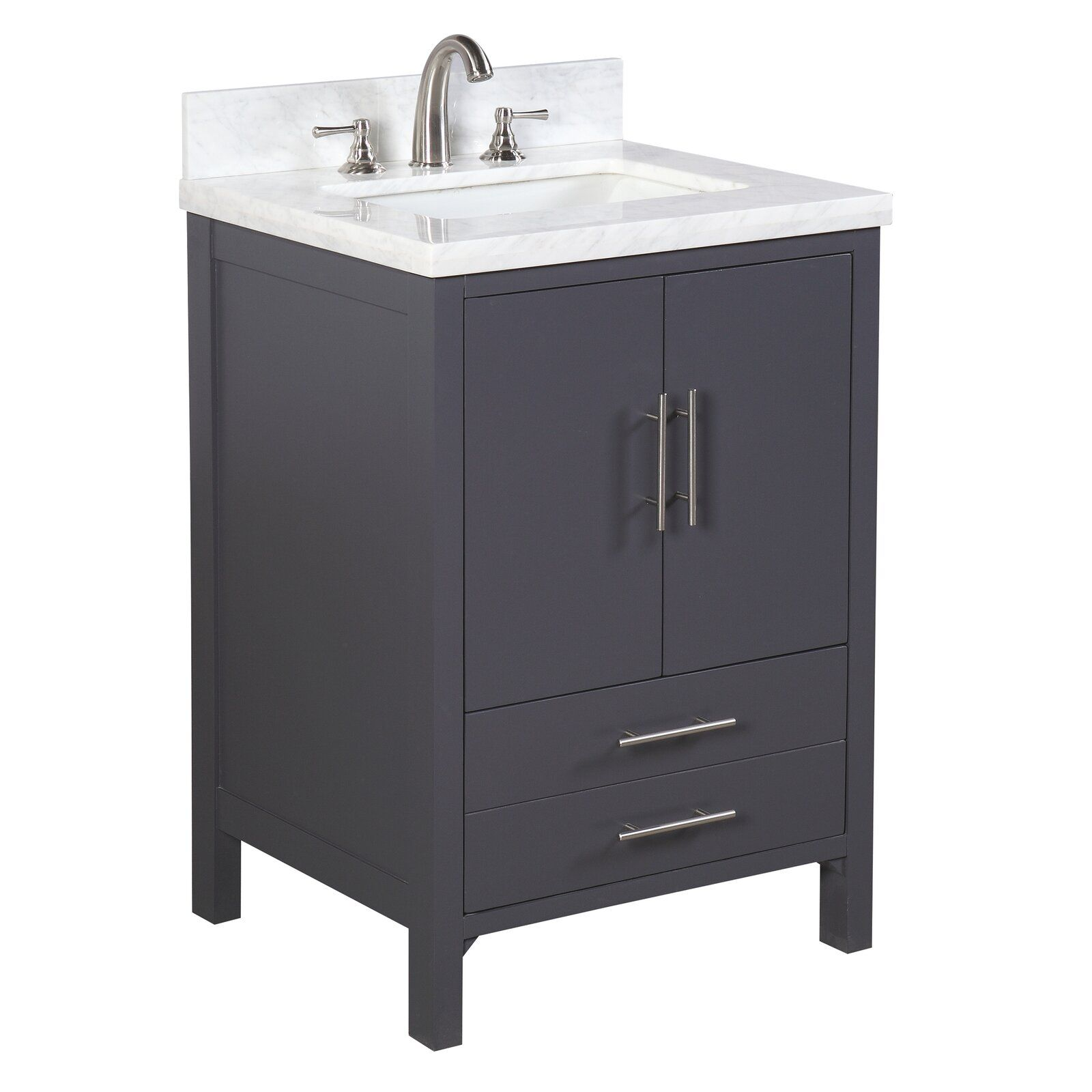 California 24 Single Bathroom Vanity Set Reviews Allmodern