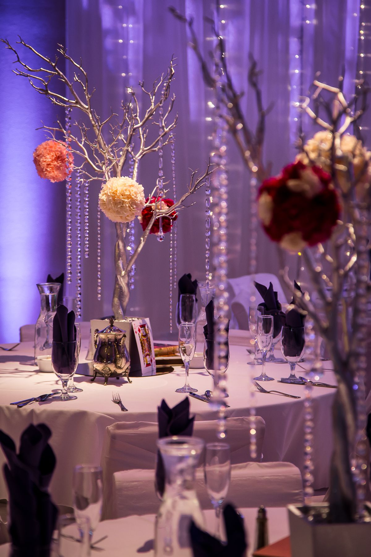 Wedding centerpiece by Woolard Productions The Grove