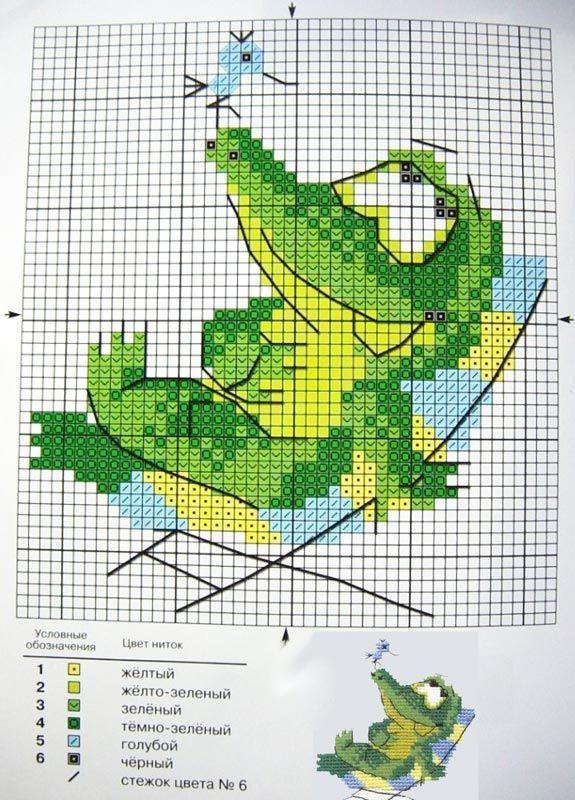 Cute crocodile cross stitch | Cross Stitch: Whimsical | Pinterest ...