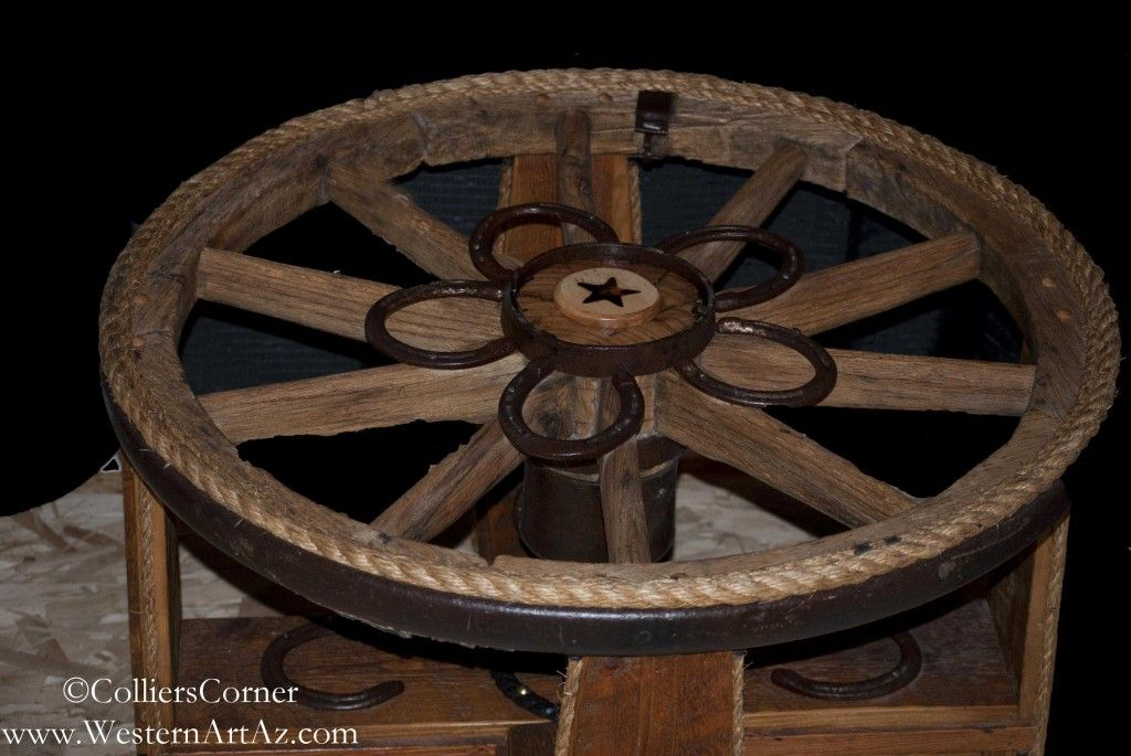 Wagon Wheel Table | Wagon Wheel Table | | Western Art Arizona, LLC