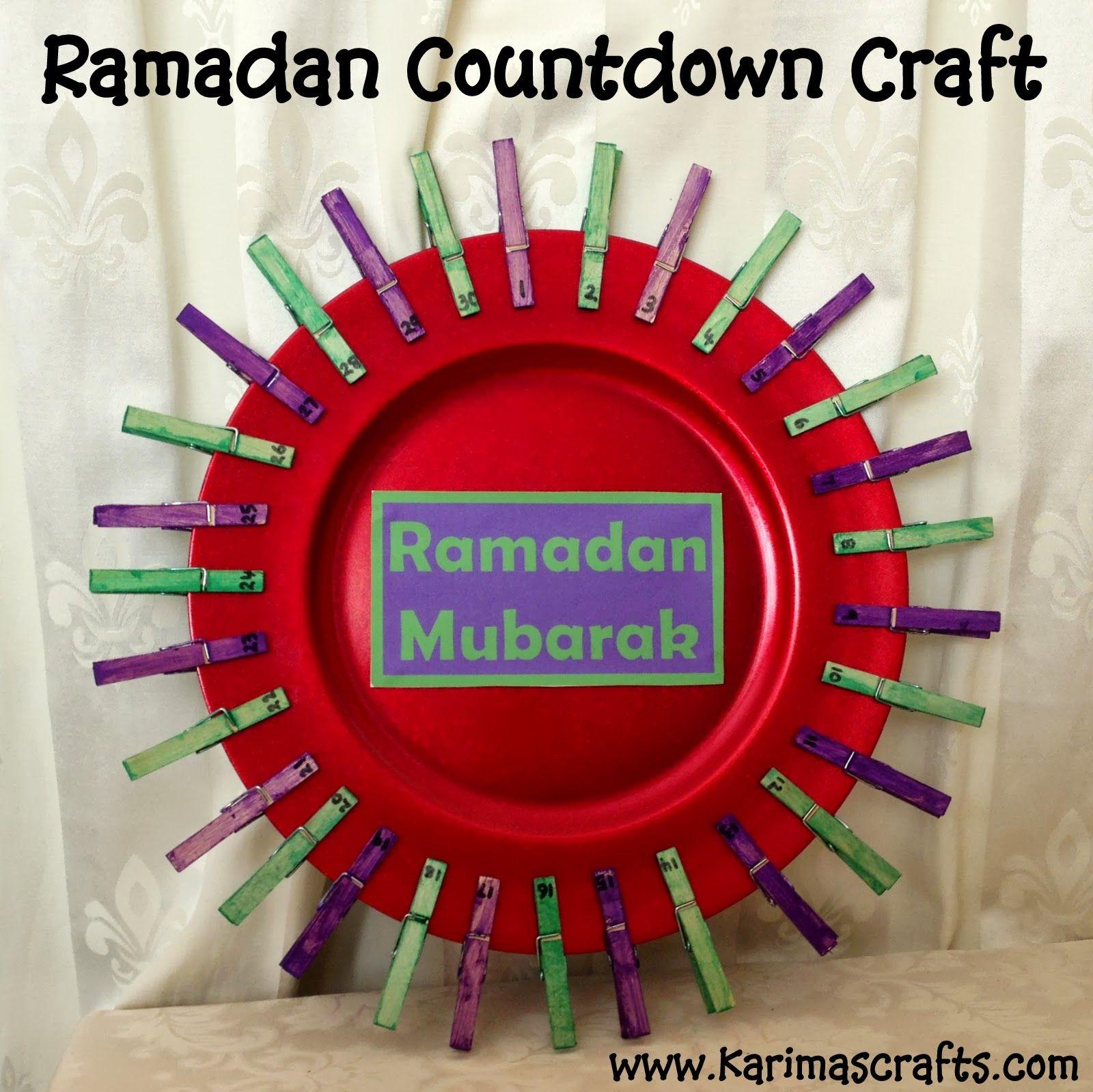 Karima S Crafts Ramadan Countdown Crafts