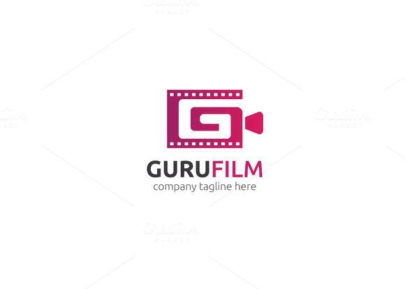 Guru film logo by xpertgraphicd on creativemarket for Camera film logo