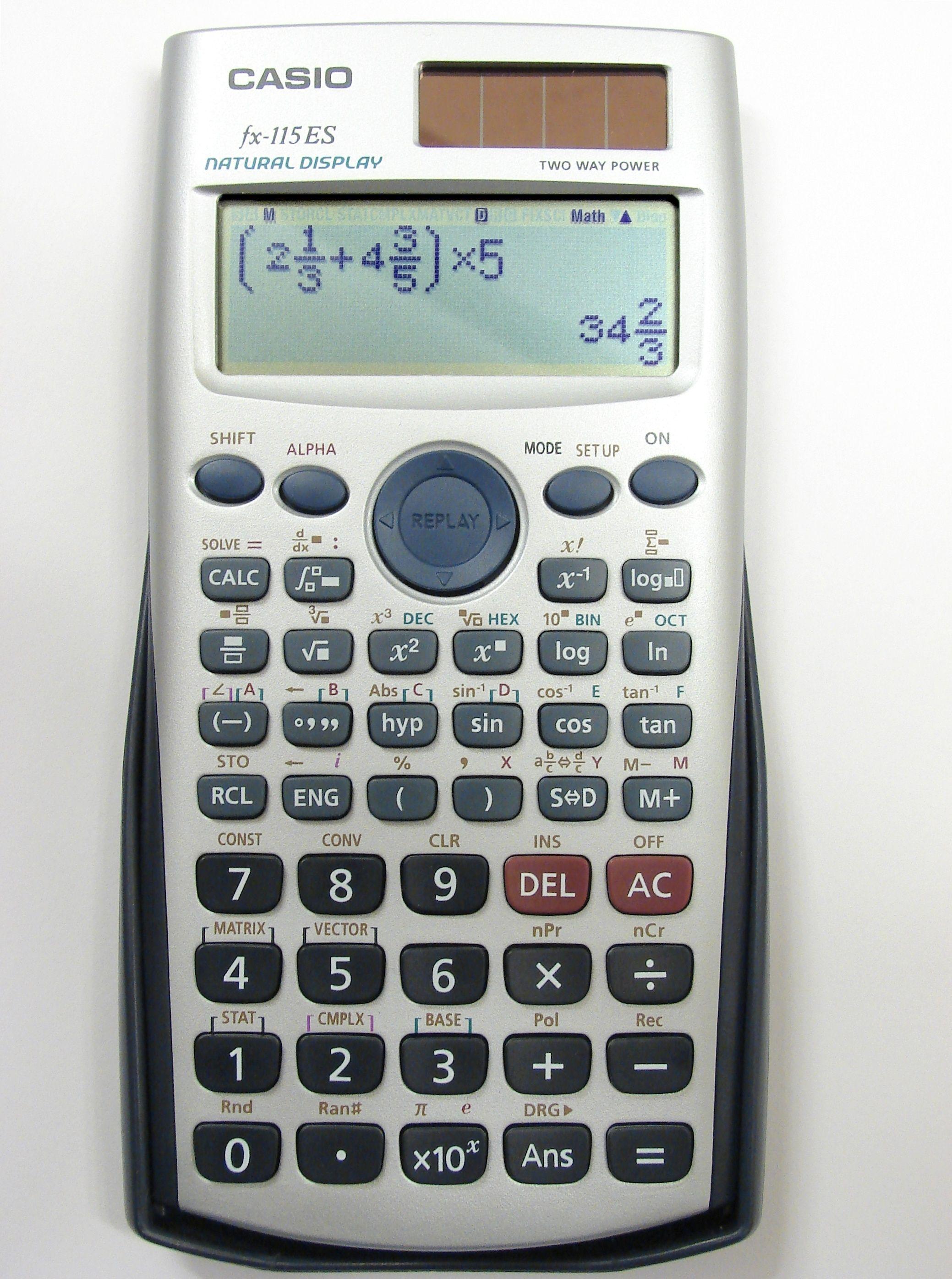 Es Un Calculador Me Gusta La Marca Casio  Utiles Escolares