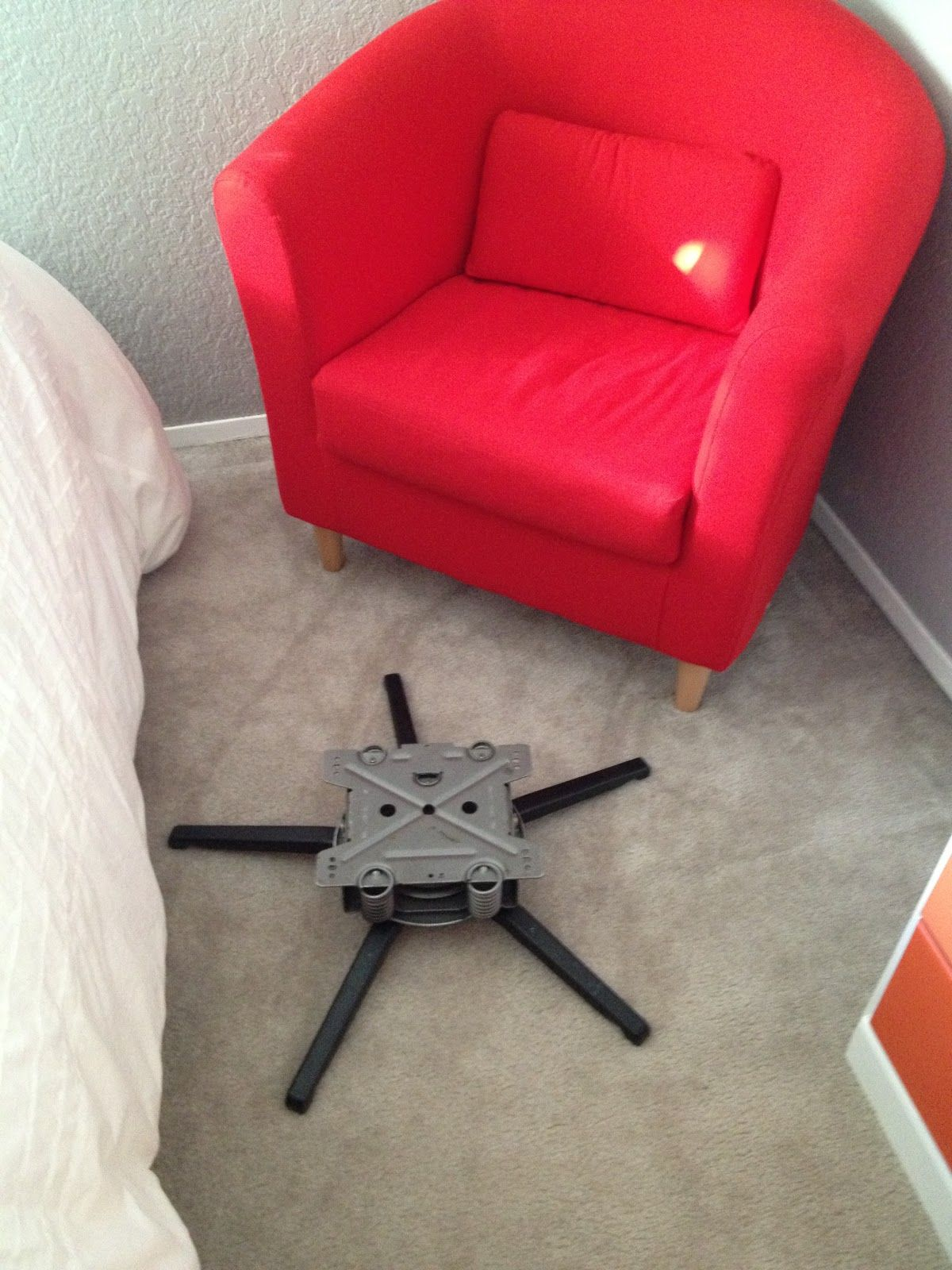 Butler Life Ikea Chair To Rocking Another Take On Hacking A My Is White Though Just Like The Idea Of Converting It