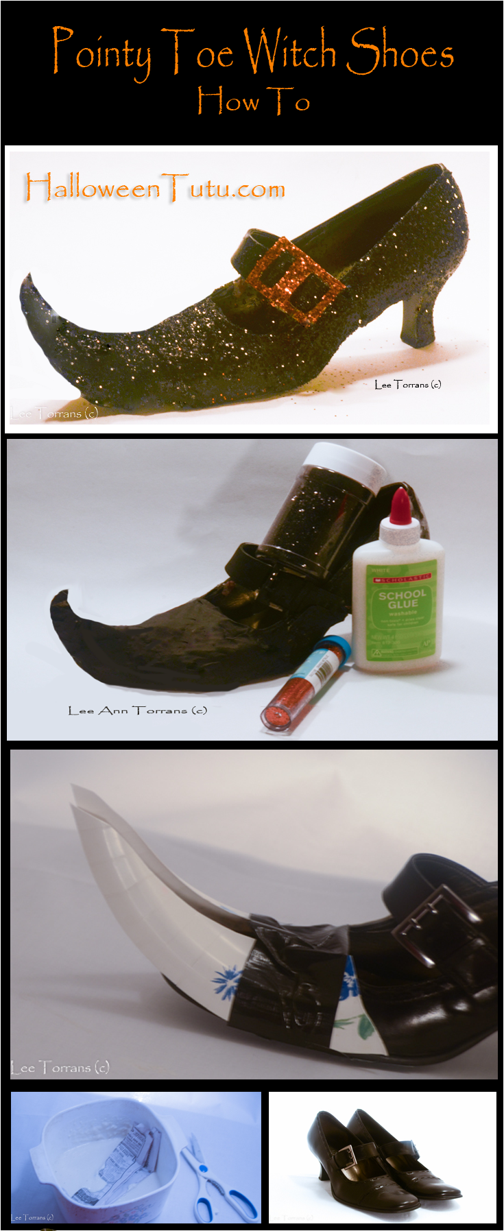 How to Make Pointy Toe Witch Shoes HalloweenTutu.com | Halloween ...
