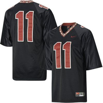 buy popular f7609 b65c4 Nike Florida State Seminoles (FSU) #11 Black Tackle Twill ...