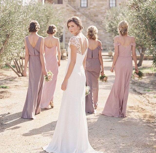Mauve bridesmaids dresses | Mauve || Wedding Inspiration ...