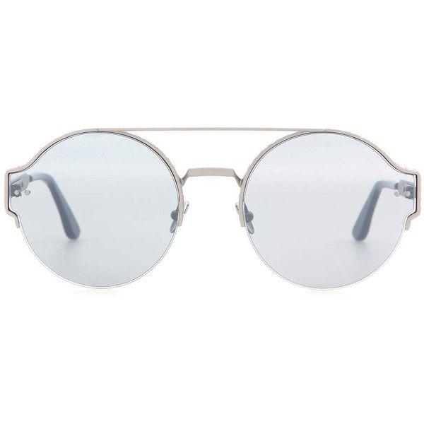 04dbb7f2c27f5 Bottega Veneta Round Sunglasses (€350) ❤ liked on Polyvore featuring  accessories