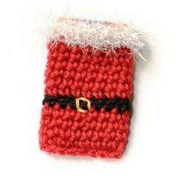 Set of 2 Crochet Money Gift Holders, Christmas Crochet, Family
