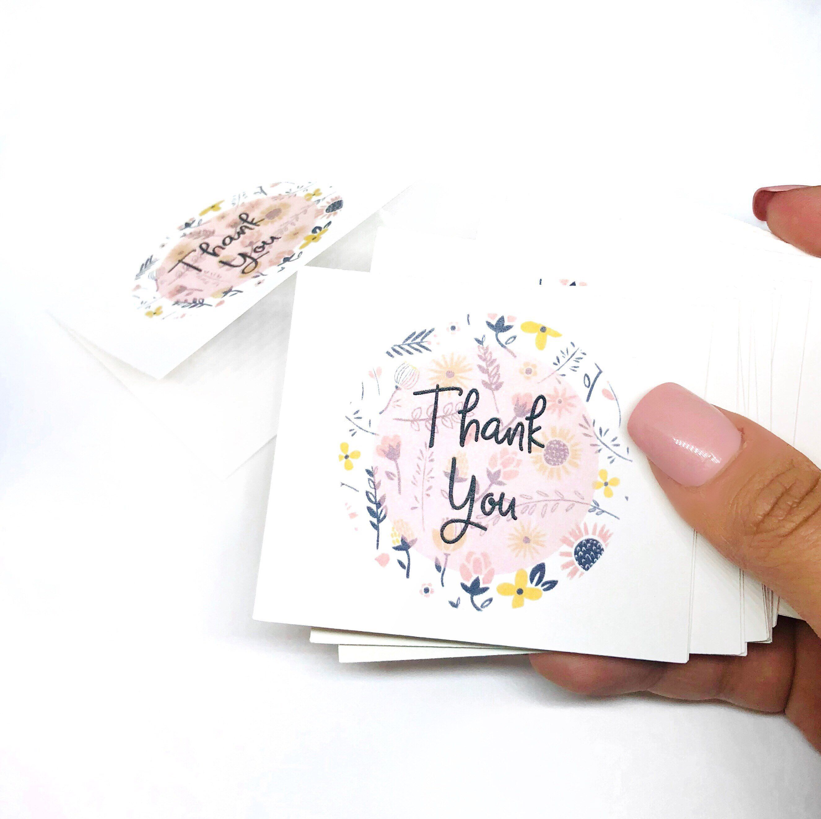 Floral Thank You Cards, Business Thank You, Blank Cards