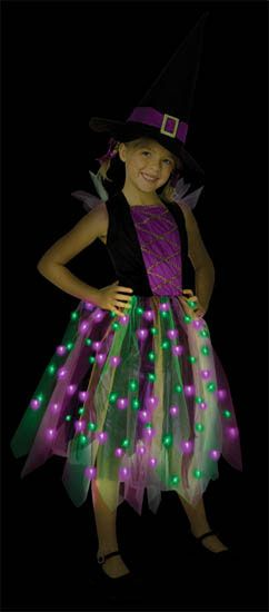 68cd7769aa2 Light Up Rainbow Witch Costume | Halloween Glow-in-the-Dark ...