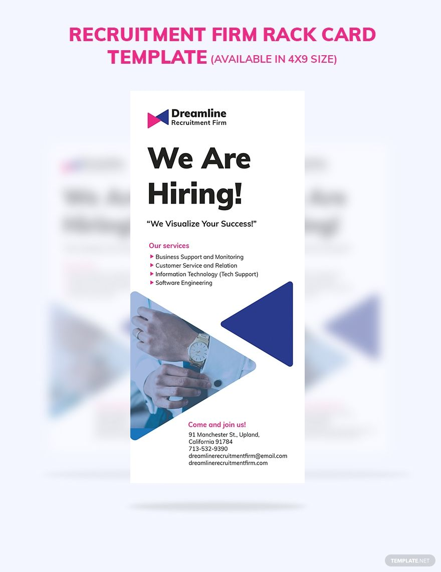 Recruitment Firm Rack Card Template Free Jpg Illustrator Indesign Word Apple Pages Psd Publisher Template Net Rack Card Templates Rack Card Card Template Rack card template microsoft word