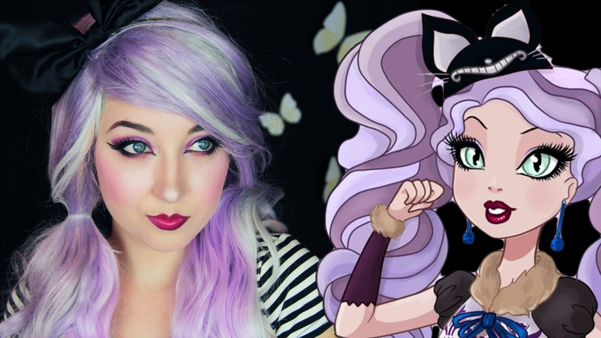 Kitty cheshire ever after high makeup tutorial halloween kitty cheshire ever after high makeup tutorial baditri Choice Image