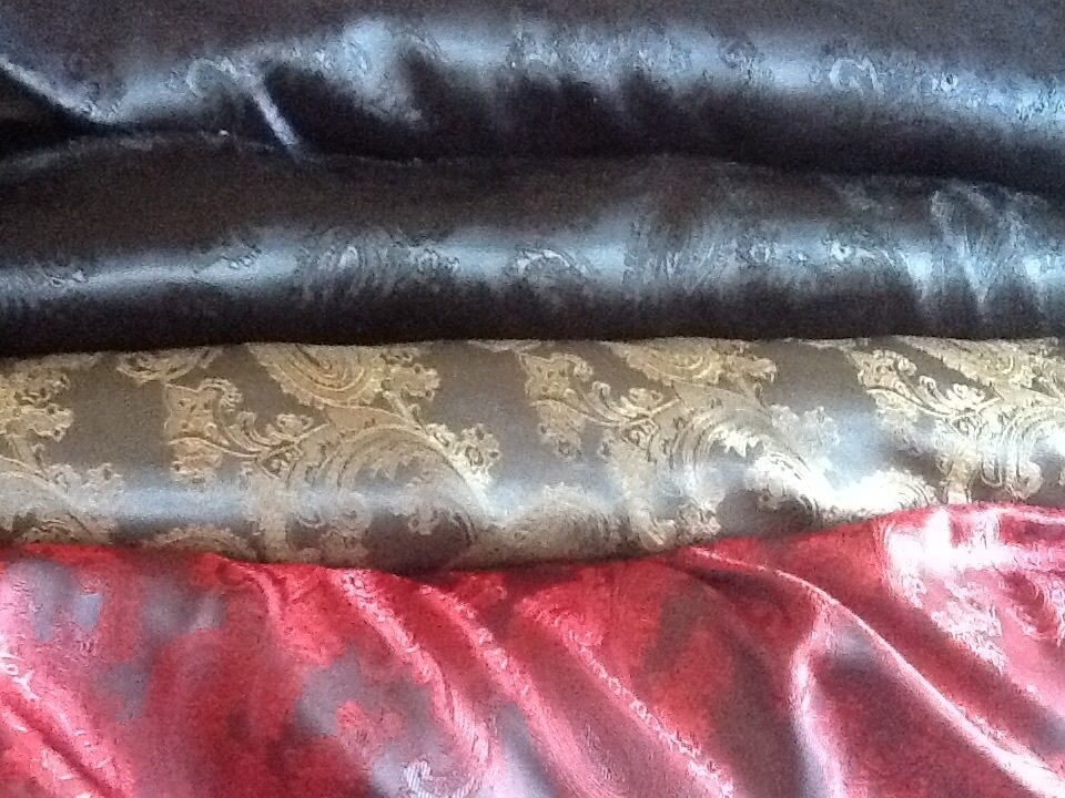 "Luxury High quality Paisley Jacquard dress lining fabric £5.25//m 1.44m//57/"" wide"