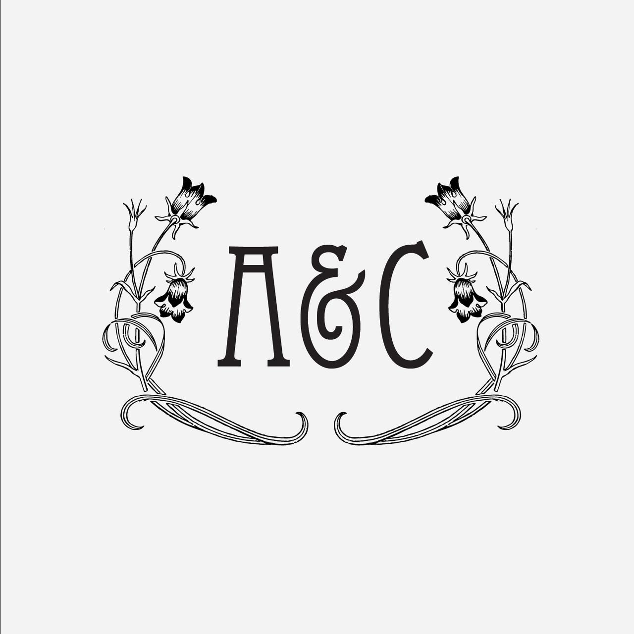 """Antiquaria - """"Art Nouveau"""" Initial Monogram Stamp, $24.00 (http://www.shopantiquaria.com/art-nouveau-initial-monogram-stamp/)"""