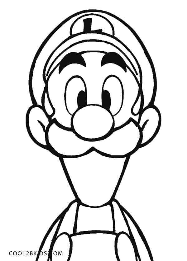 Printable Luigi Coloring Pages For Kids | Cool2bKids | game ...