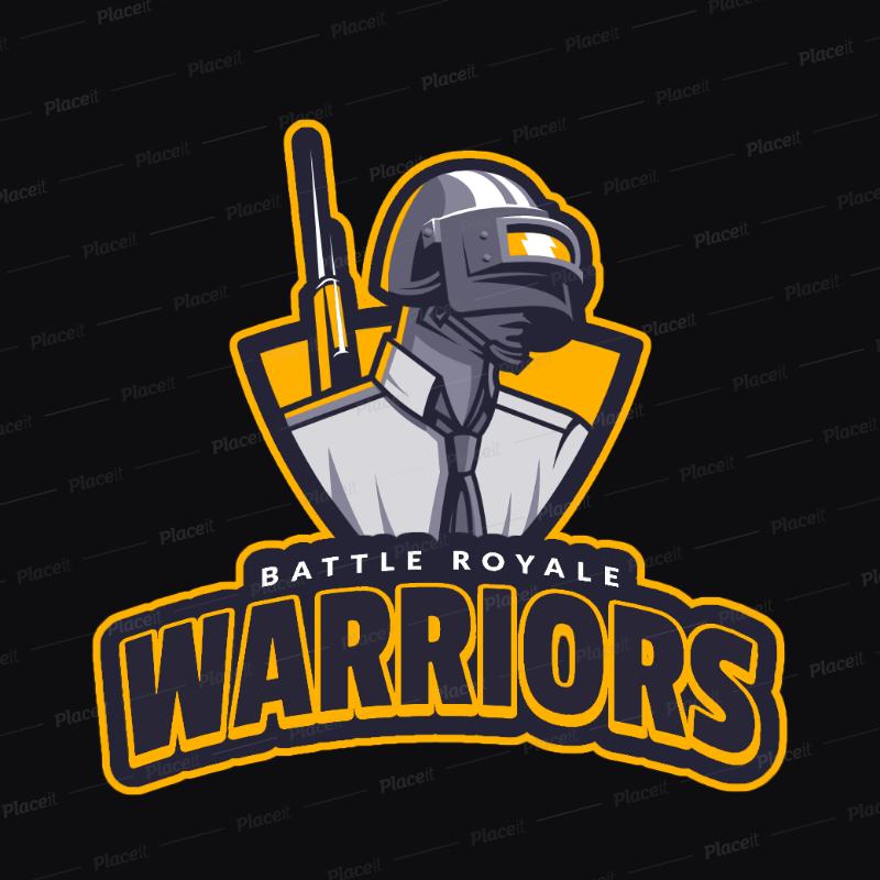 Logo Creator with a Player Unknown's Battleground Theme