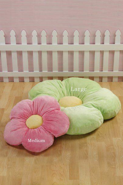 green daisy flower pillow