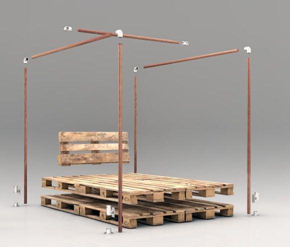 Himmelbett bauen komlett f r unter 110 so wird s gemacht schlafzimmer - Himmelbett anleitung ...