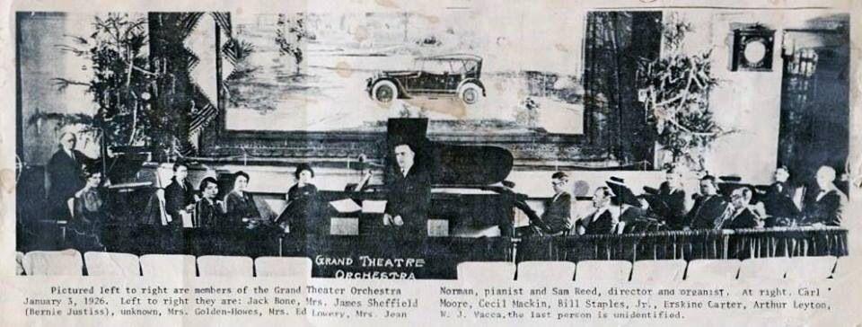 Grand Theater Orchestra Ca 1929 Paris Texas Paris Texas Paris Grands