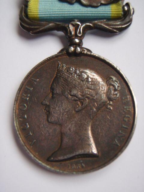 Crimea Medal (Bars - Alma, Balaklava, Inkermann and Sebastopol) - 68th Regt of Foot (K.S.L.I.)