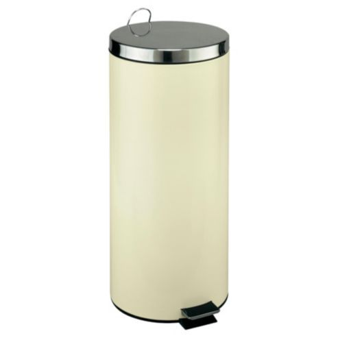 Tesco 30l Cream Pedal Kitchen Bin With Stainless Steel Lid Stainless Stainless Steal Kitchen Bin