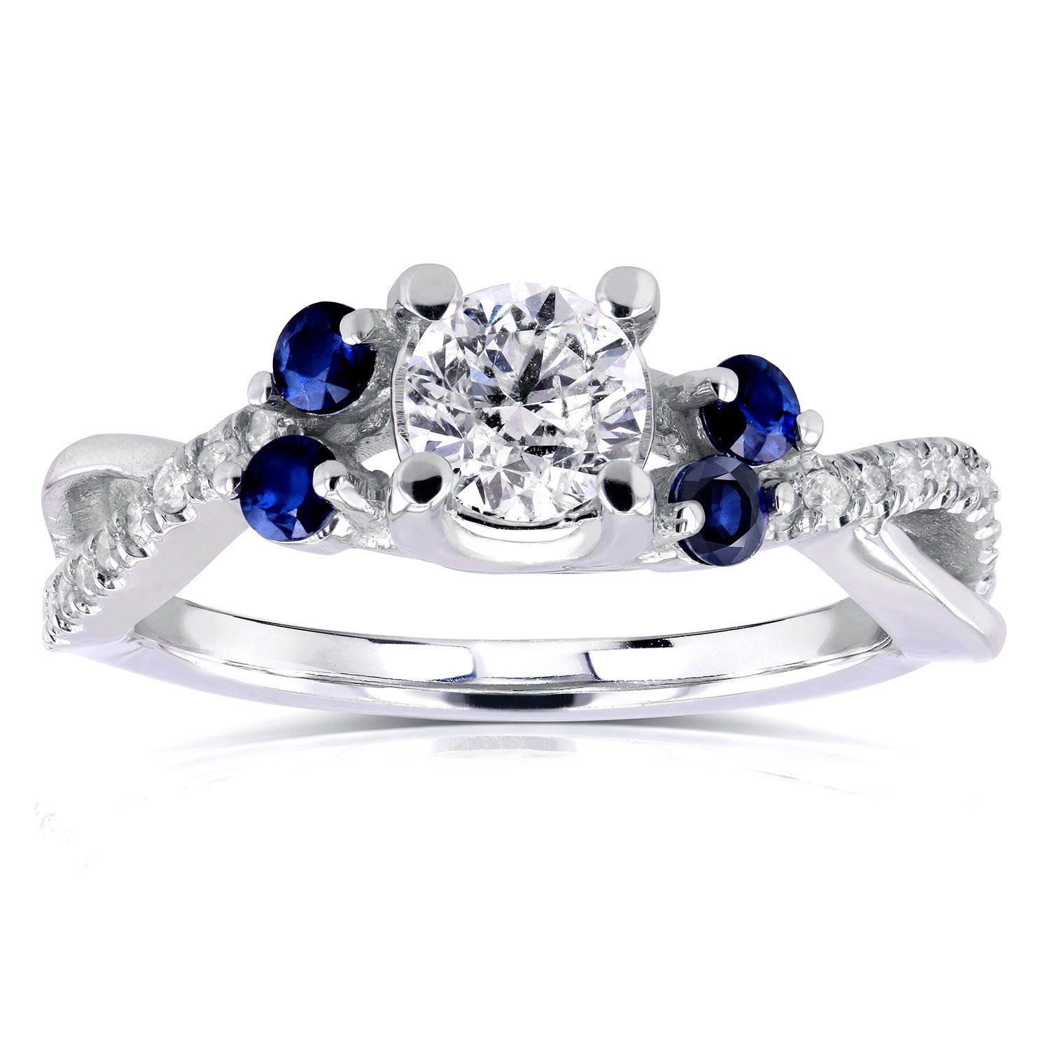 gift color middleton plated ring engagement kate cz blue highness box sapphire jg bling diana with jewelry silver oval crystal