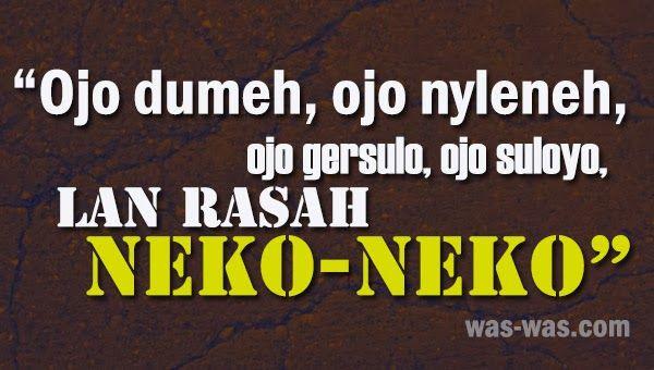 Gambar Kata Pepatah Bijak Bahasa Jawa Was Was Com Was Was Com
