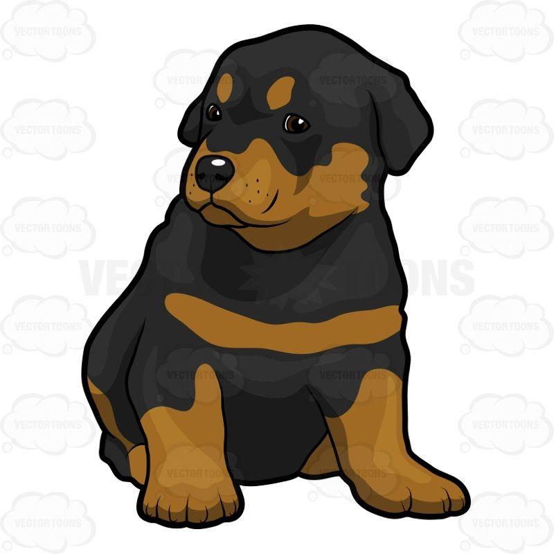 Rottweiler Clipart Rottweiler Puppy Clip Art